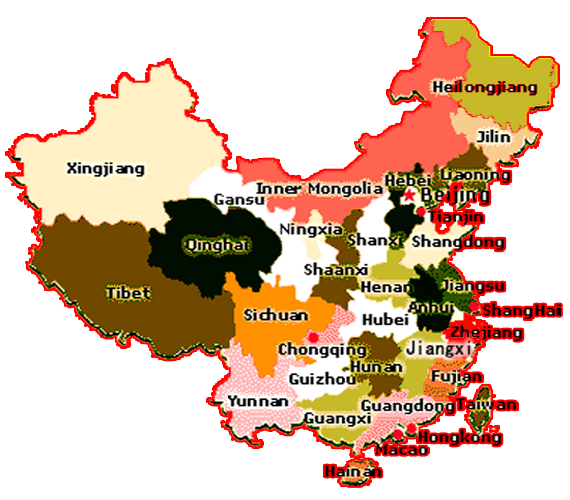 China Provinces Map China Travel Tools - China map